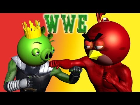 ANGRY BIRDS in WWE IMMORTALS  ♫ 3D animated  Game Mashup  ☺ FunVideoTV - Style ;-))