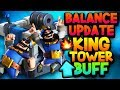 *NEWS* BALANCE CHANGES REVEALED! Buff to KING TOWER?