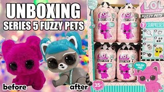 LOL Surprise FUZZY PETS UNBOXING | L.O.L. Makeover Series 5 Opening | STEM Club Raccoon Color Change
