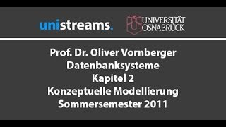 2. Vorlesung Datenbanksysteme - Konzeptuelle Modellierung - Kapitel 2 - SS 11 - unistreams