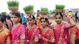 2021 Teej Beautiful Girls Bailok Dance // Banjara Culture Song Super Dance BIG Rally Kamareddy