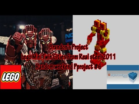 how to build lego real steel mini twin cities gold version stop