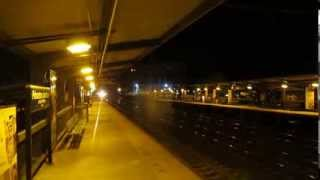 Acela Express 2124 & NJ Transit Train 3875 at Night