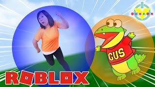 STUCK IN A CRAZY BALL in ROBLOX Super Bloxy Ball ! Ryan's Mommy Vs. Gus