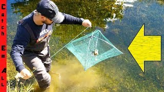 UMBRELLA FISH TRAP! Catches Crawfish, Fish, and More!