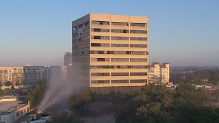 Implosion fails to completely demolish Dallas building