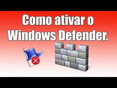 Como Ativar O Windows Defender. Como Habilitar O Microsoft Security Essentials.