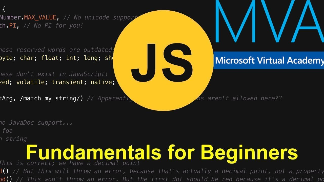 JavaScript Fundamentals for Absolute Beginners 2019