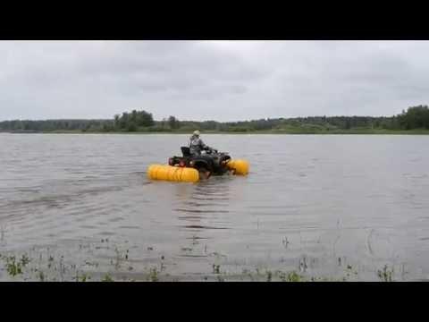 переправа квадроцикла на лодке