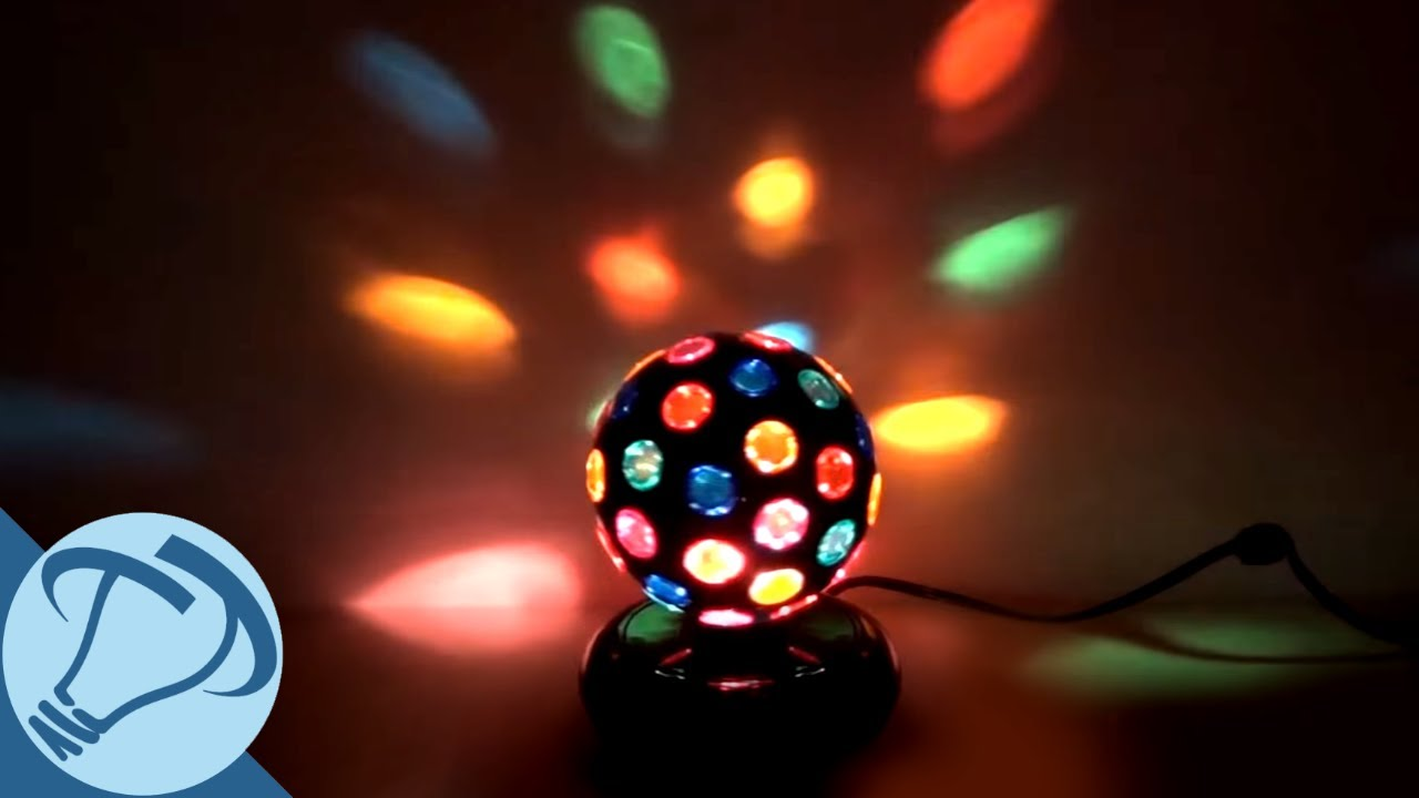 6 Black Rotating Disco Ball With 46 Points Of Light From Creative Motion You