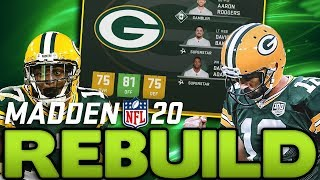 Rebuilding the Green Bay Packers! Aaron Rodgers Regresses Hard! Madden 20 Franchise Rebuild