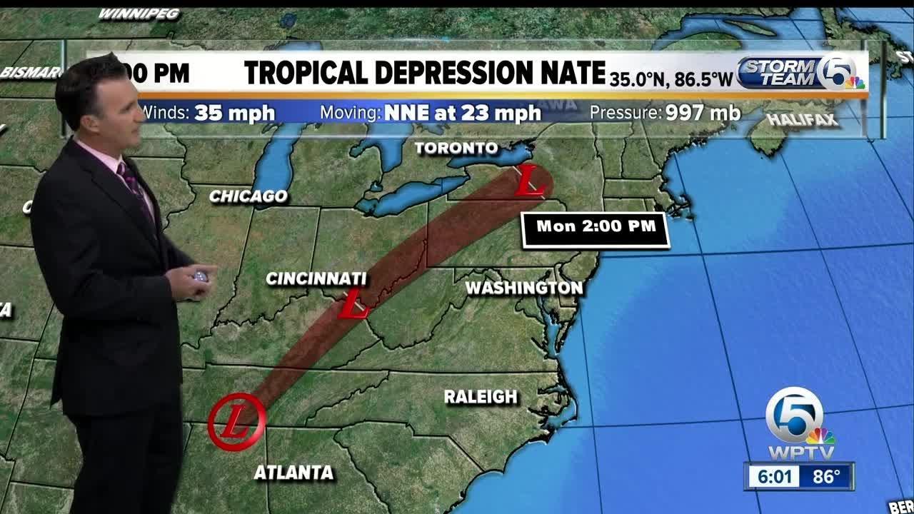 tropical depression nate update 10  8  17