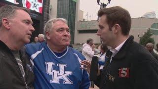 Kentucky Fans Descend On Nashville For SEC Tournament