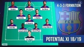 FC Barcelona ● Potential Line-Ups 2018/2019 - Ft. Arthur, Lenglet, Coutinho, Messi