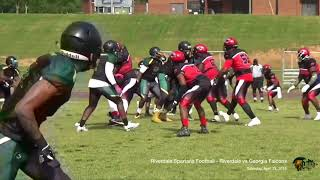 Riverdale Spartans Semi-Pro Football - 04-21-18 - vs Georgia Falcons - All Video Clips Combined