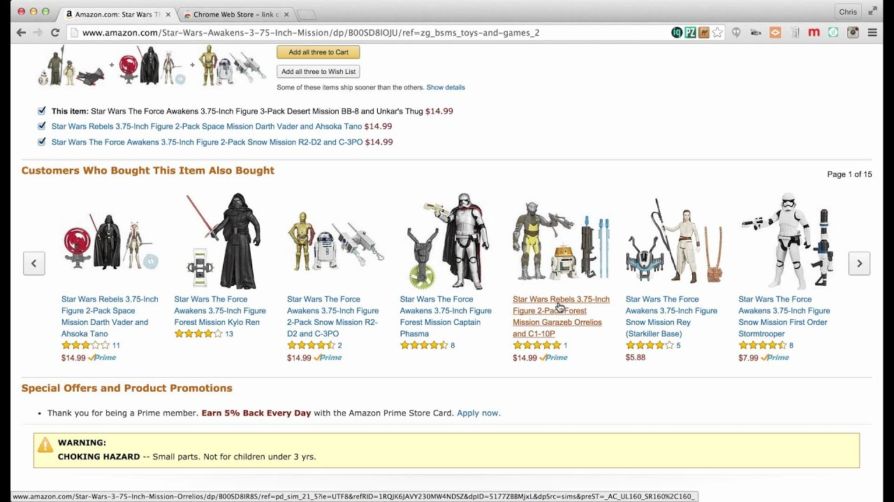 chrome extension amazon wish list