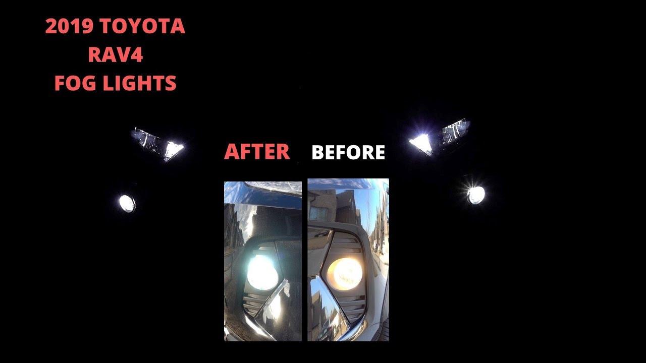LED Driving Lights Bumper Fog Lamps Harness Cover o Kit For Toyota RAV4 2019-20