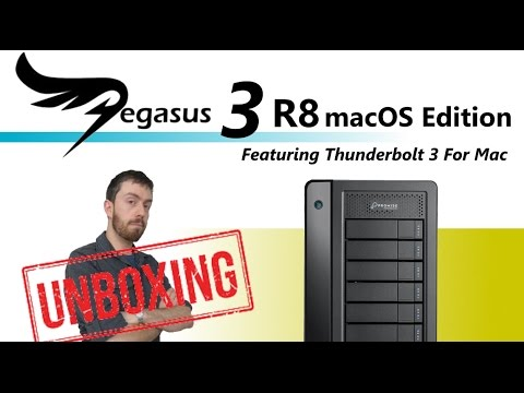 The Promise Pegasus3 Edition R8 8 Bay RAID Tower with Thundebrolt3 32TB Unboxing and Walkthrough