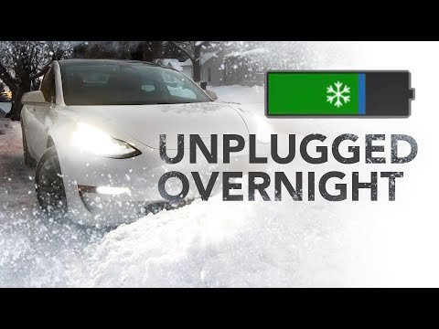 Leaving a Tesla Unplugged in Winter Overnight: Battery Cold Test in Canada