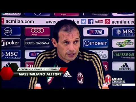 AC Milan I Allegri: 'Faremo una gran partita' (with subtitles)