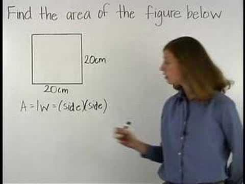 Area Of A Square Math Help Youtube