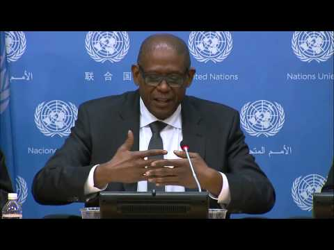 Forest Whitaker With The UN Press Today