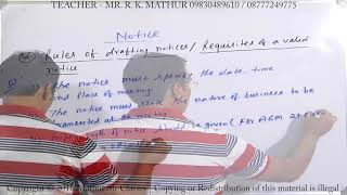 Drafting Notice   Tools of communication   Business Communication   Mathur Sir Classes