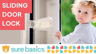 Sure Basics Sliding Door Lock SB22 (Grey and White)