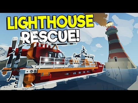 LIGHT HOUSE RESCUE & FIRE DRONE! - Stormworks: Build And Rescue Update Gameplay