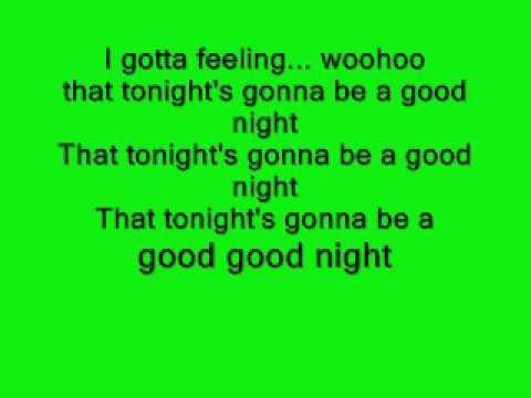 i gotta feeling!!- Lyrics (testo)