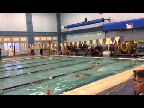 Varsity swim meet at central islip 1 16 14 youtube for Rogers high school swimming pool