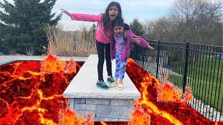 Deema and Sally Play THE FLOOR IS LAVA