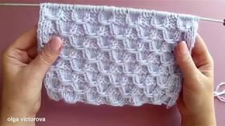 Плотный рельефный узор в фольклорном стиле Вязание спицами  374
