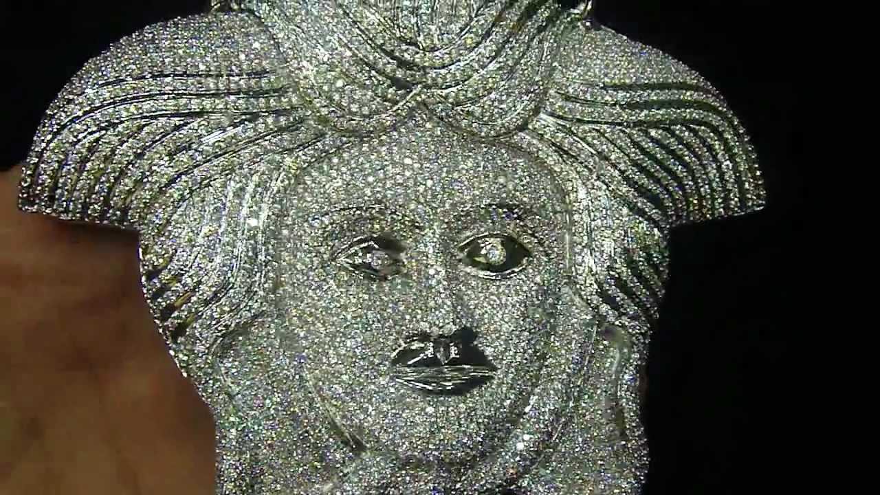 Mr Chris Da Jeweler Iced Out Lab Diamond Medusa Face