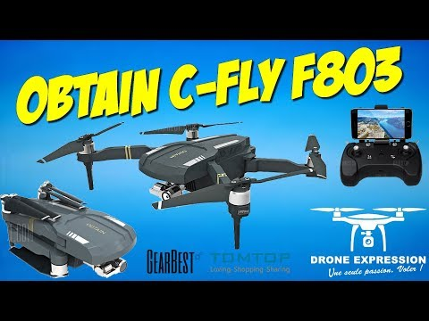 OBTAIN C FLY F803 MAVIC CLONE PRESENTATION UNBOXING REVIEW FLIGHT TEST GEARBEST & TOMTOP DRONE