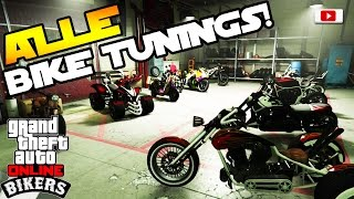 GTA 5 Online - BIKERS Update: ALLE Bike Live Tunings! [Faggio Mod, Street Blazer, Drag etc.!]