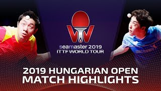 Xu Xin vs Lim Jonghoon | 2019 ITTF World Tour Hungarian Open Highlights (1/4)