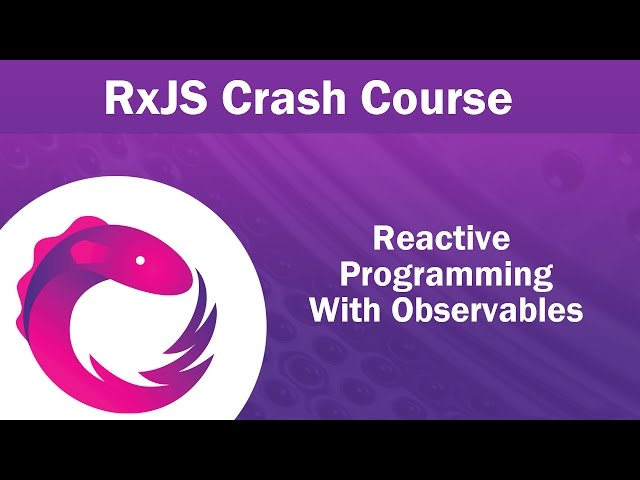 RxJS Observables Crash Course