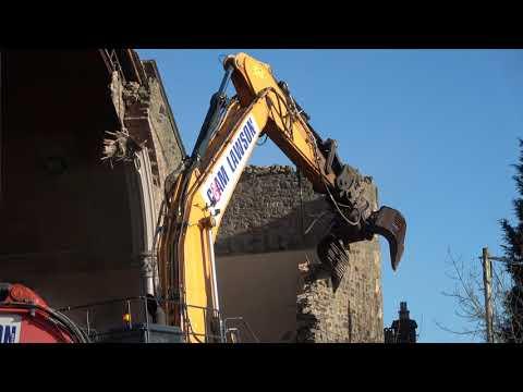 Sony AX53 - 4K test - Demolition of St Aidan's Church, Galashiels