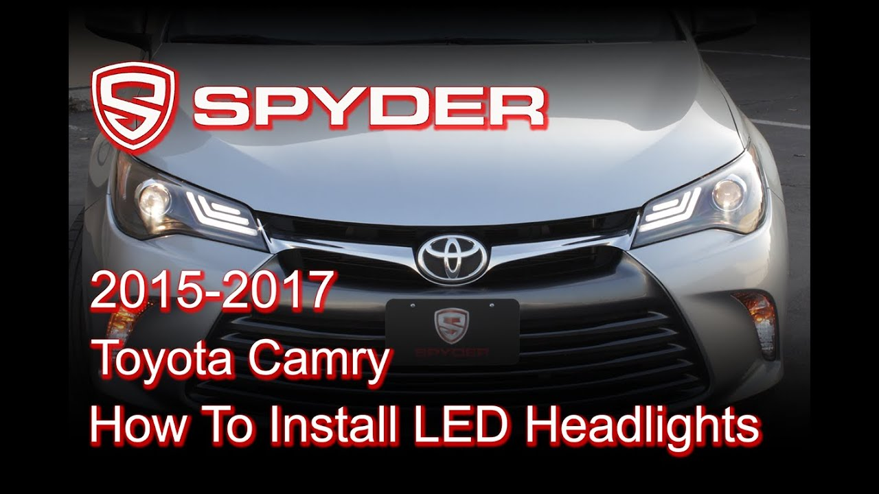 Spyder Auto Installation 2017 Toyota Camry Headlight W Led Light Bar Pro Yd Tcam15 Lb Bk