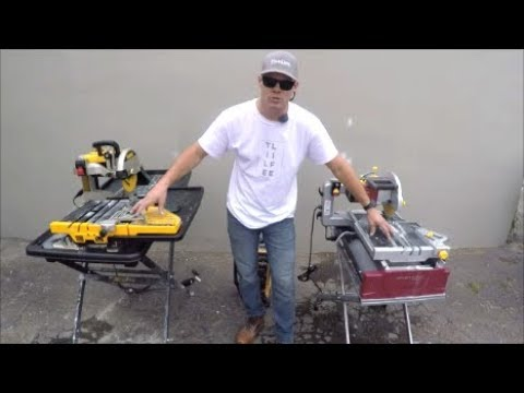 Dewalt Tile Saw Vs. Harbor Freight Chicago Electric Tile Saw
