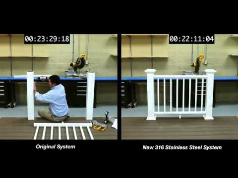 AZEK Rail Installation Side-By-Side Comparison - Glenbrook U