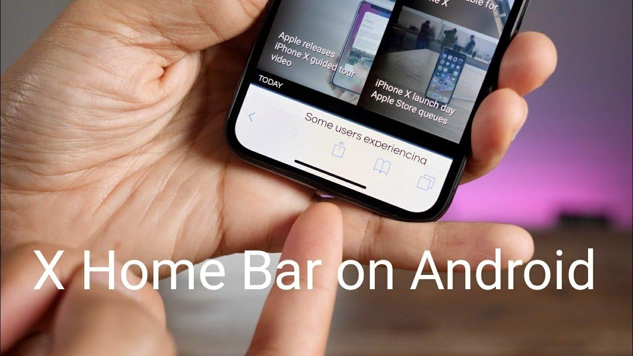 Resultado de imagen de X home bar android