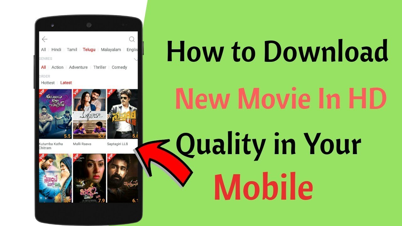 how to download new movies for free || in hd quality || in telugu