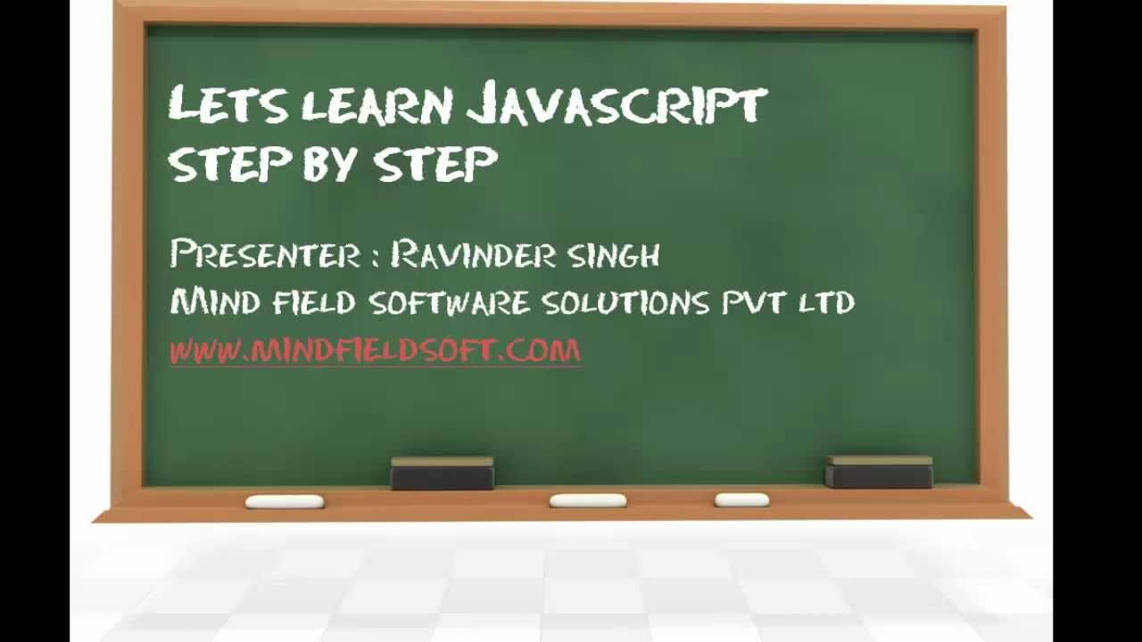 Javascript video tutorial 1 learn javascript step by step youtube baditri Images