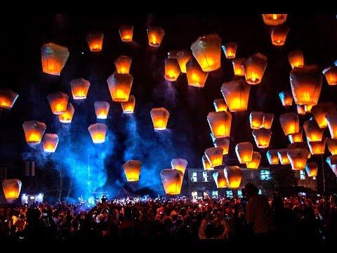Taiwan Sky Lantern Festival At Pingxi And Shifen Waterfall