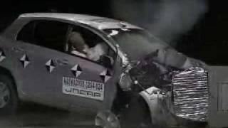 Краш-Тест Toyota Yaris От Jncap. Смещенный Фронтальный Удар
