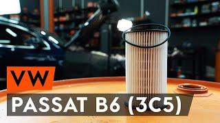 Смяна на дизел Горивен филтър на VW PASSAT Variant (3C5) - видео инструкции