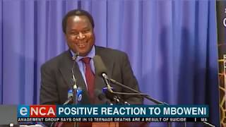 Positive response to Mboweni appointment