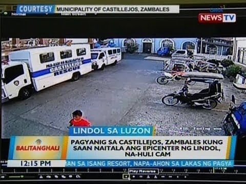 BT: Pagyanig sa Castillejos, Zambales kung saan naitala ang epicenter ng lindol, na-huli cam